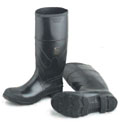 16 inch PVC Mens Black Steel Toe Work Boot - 025-86606X